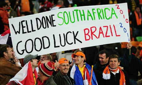 Fans at end of 2010 World Cup