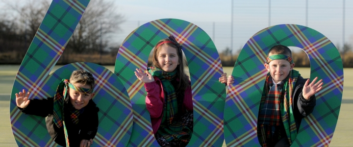 Glasgow 2014 tartan at 600 days to go event
