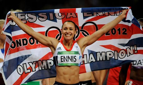 Jessica Ennish with GB flag