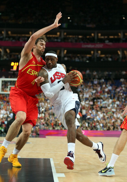 LeBron James London 2012 final v Spain August 12 2012