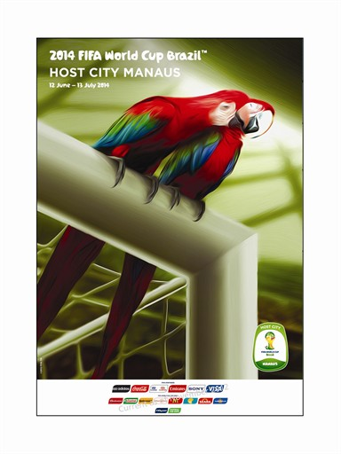 Manaus poster for World Cup 2014