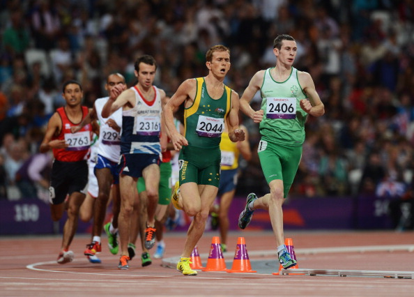 Michael McKillop leading 1500m London 2012 September 3 2012