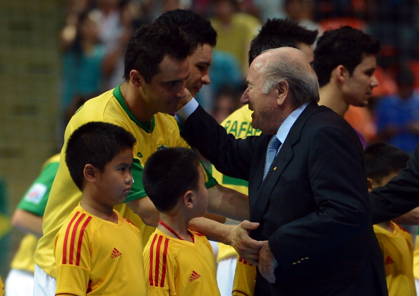 Sepp Blatter at final of FIFA Futsal World Cup Bangkok November 18 2012