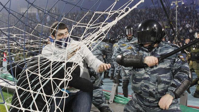 Zenit St. Petersburg v Moscow violence