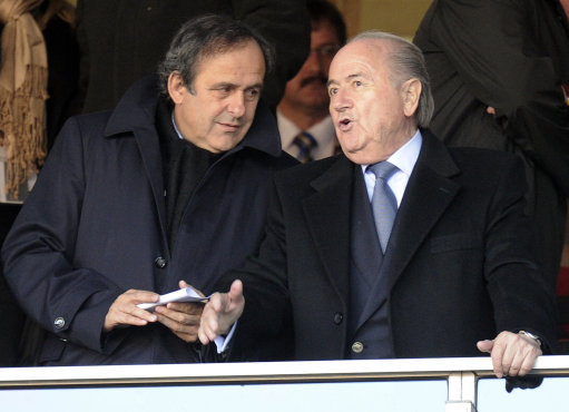 Sepp Blatter Michel Platini