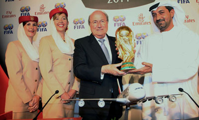 Sepp Blatter with Emirates and World Cup