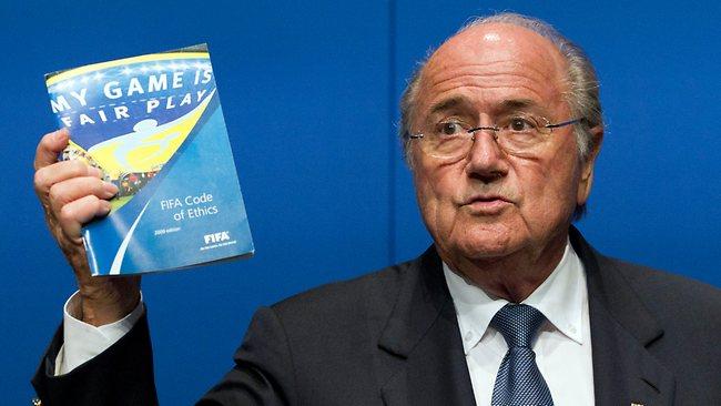 Sepp Blatter with Fair Play document