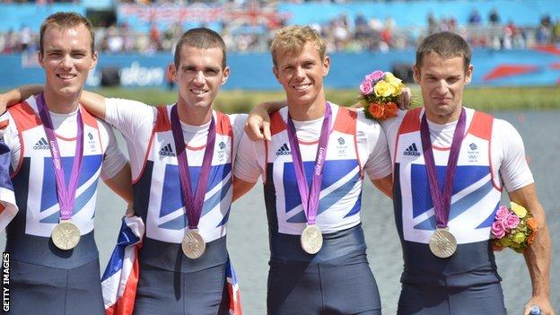 Team GB men four London 2012