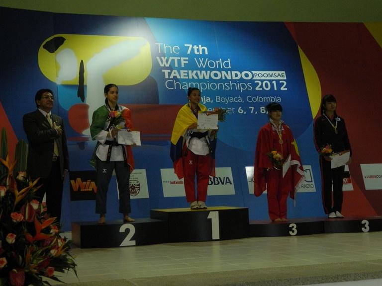 7th WTF World Taekwondo Poomsae Championships podium