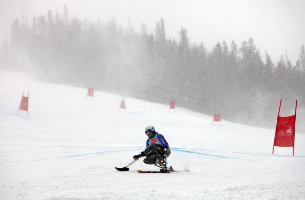 Anna Turney of Great Britain Paralympic mono skier