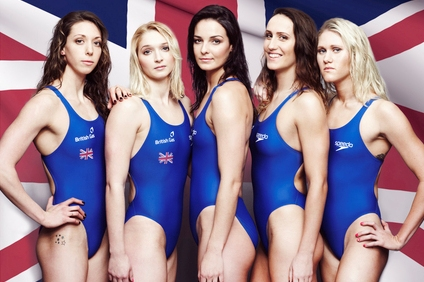 British Swimmers doing ad for British Gas
