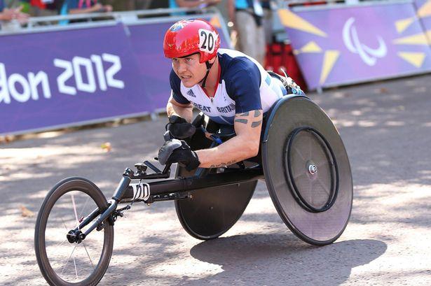David Weir marathon London 2012