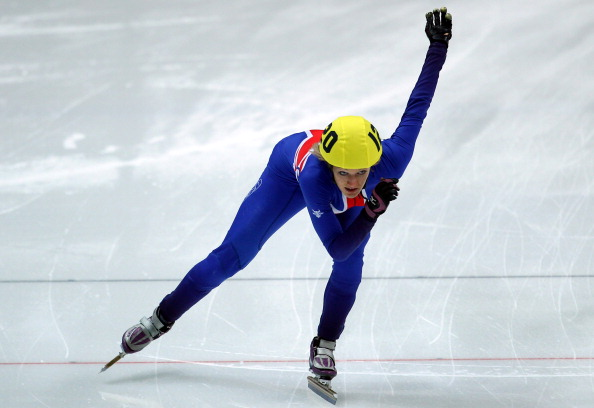 Elise Christie at the ISU World Short Track Speed Skating Championships