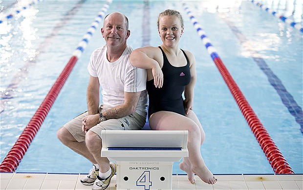 Ellie Simmonds with Billy Pye