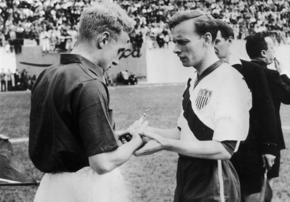 England vs United States of America captains 1950 World Cup