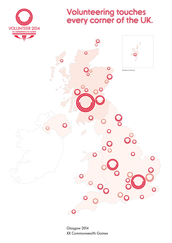 Glasgow 2014 volunteering map 2