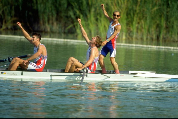 Greg Searle Johnny Searle and Gary Herbert of Great Britain 1992 Barcelona Games