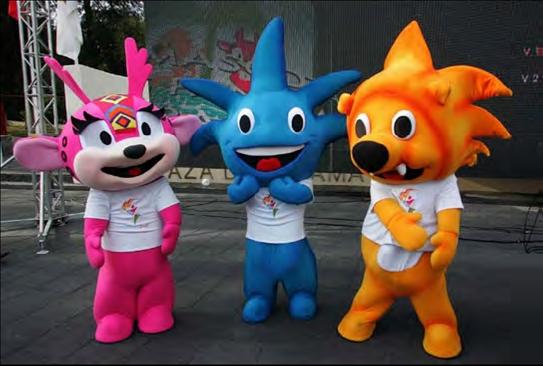 Guadalajara 2011 mascots
