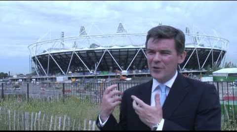 Hugh Roberson outside Olympic Stadium