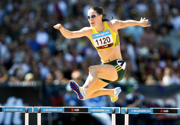 Jana Pittman winning 400m hurdles Melbourne March 22 2006 Commonwealth Games