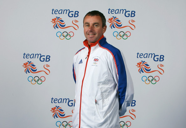 John Nuttall in front of Team GB