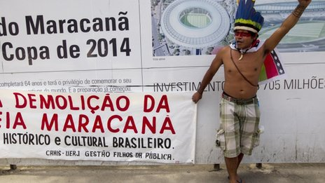 Maracana Stadium protests December 1 2012