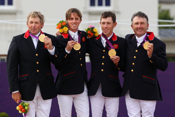 Nick Skelton Ben Maher Scott Brash and Peter Charles of Great Britain