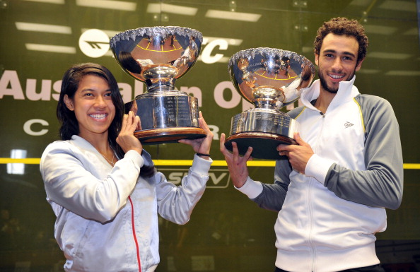 Nicol David and Ramy Ashour