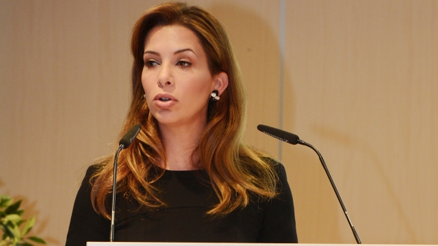 Princess Haya at microphone
