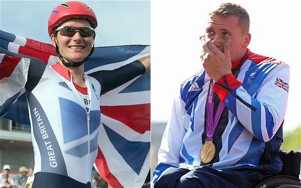 Sarah Storey and David Weir at London 2012