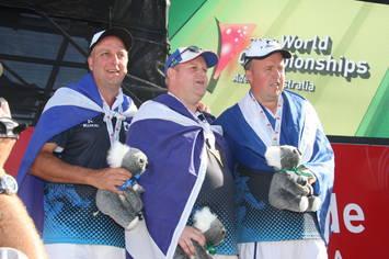 Scotland celebrate victory at World Bowls Championships 2012