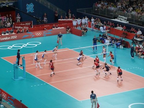Team GB volleyball v Russia London 2012
