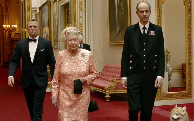The Queen with Bond