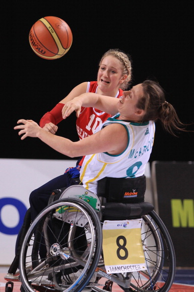 Tina McKenzie in action at BT Paralympic World Cup