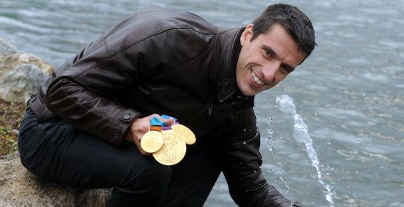 Tony Estanguet with three gold medals November 29 2012