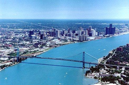 Windsor and Detroit
