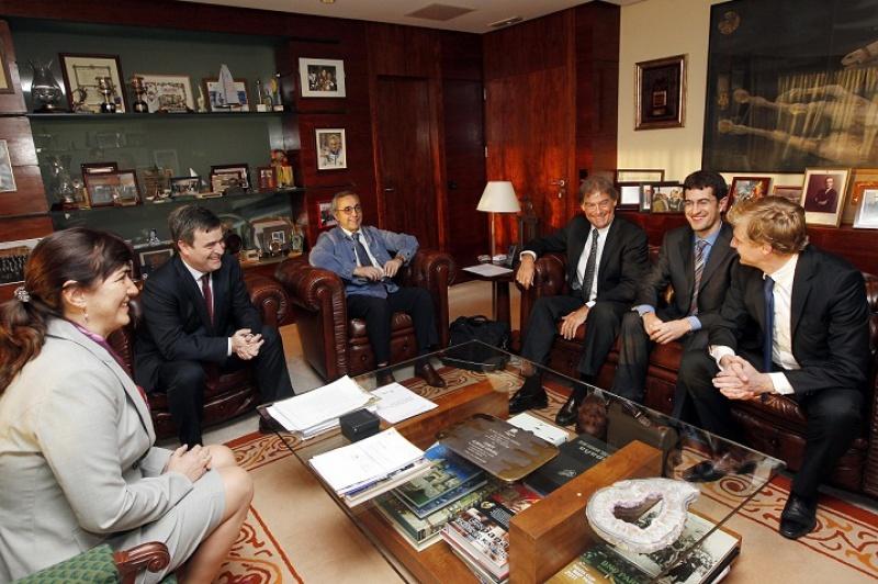 Alejandro Blanco and David Howman at meeting in Madrid 2012