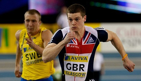 Craig Pickering sprinting