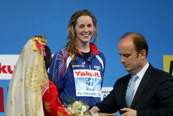 Hannah Miley receiving gold medal World Short Course Championships December 12 2012