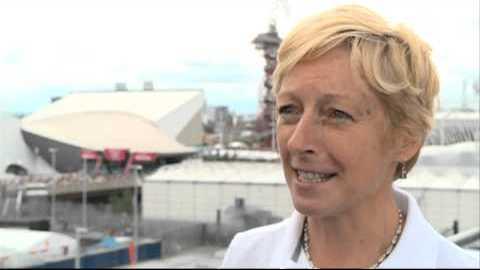 Liz Nicholl at Olympic Park