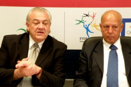 Malta Olympics Committee president Judge Lino Farrugia Sacco and secretary-general Joe Cassar