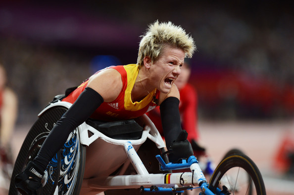 Marieke Vervoort wins 100m LOndon 2012 Paralympics