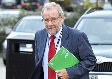 Richard Caborn with files