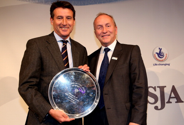 Sebastian Coe receives SJA award December 6 2012