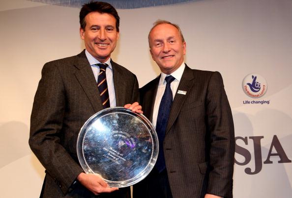 Sebastian Coe receives SJA award December 6 2012