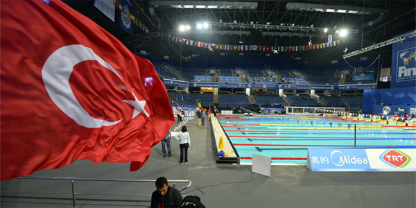 Sinan Erdem Arena for FINA World Short course Swimming Championships