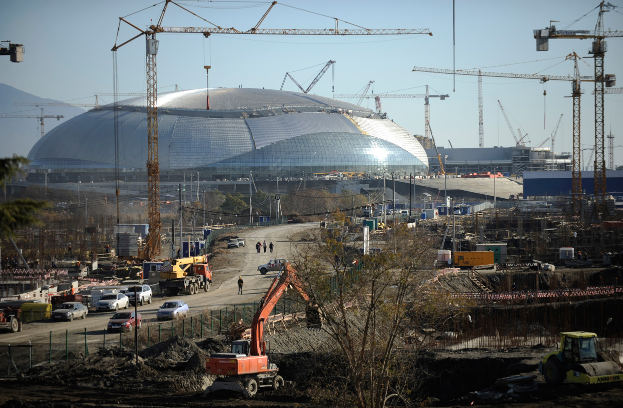Sochi construction work