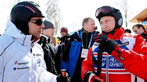 Vladimir Putin in ski gear