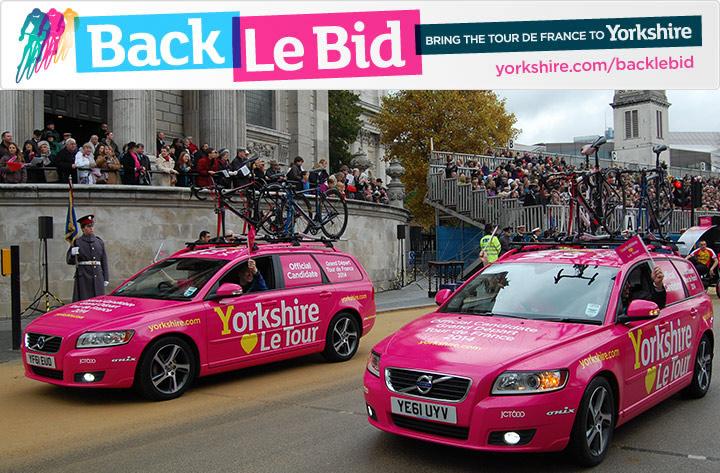 Yorkshire Le Tour cars