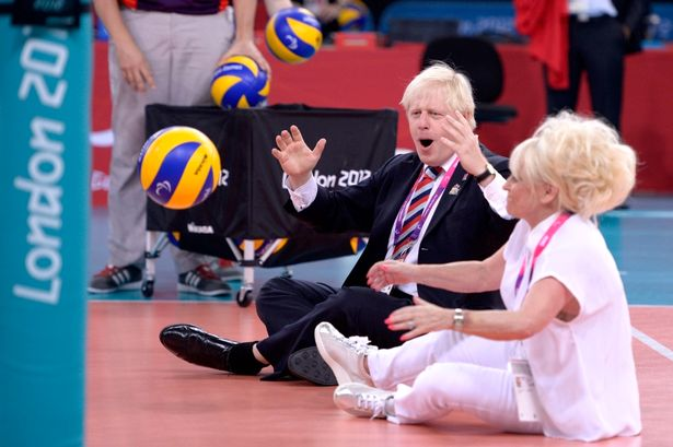 Boris Johnson and Barbara Windsor at London 2012 Paralympics